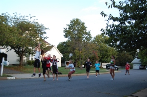 Shortly after writing this post, my kids and their friends played a 5-on-5 pickup game in the road in front of our house.