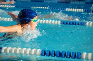 My 10-year-old daughter competing in the 25 meter buttefly